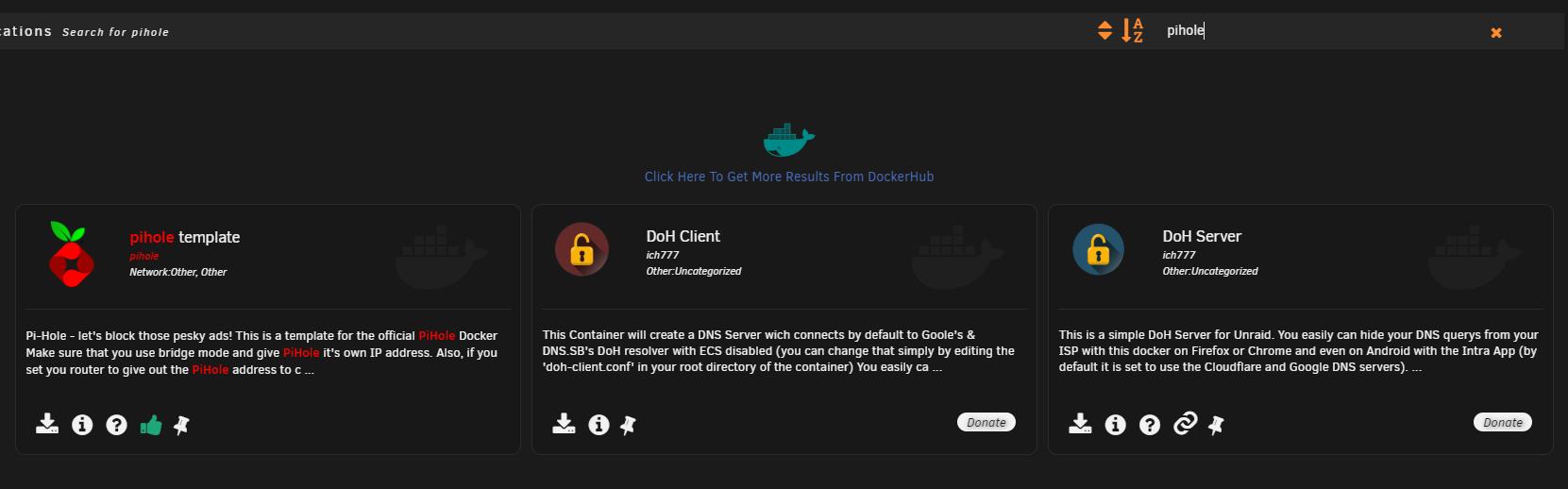 Pi-Hole 5.0 - установка блокировщика рекламы на unRAID 6.8.3 2