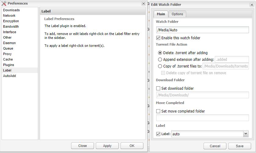 Deluge - установка торрент клиента на unRAID 6.8.3 15