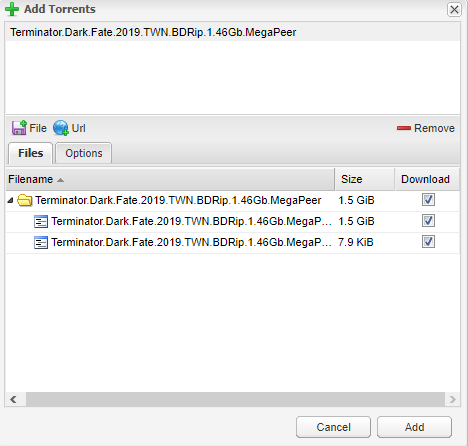 Deluge - установка торрент клиента на unRAID 6.8.3 21