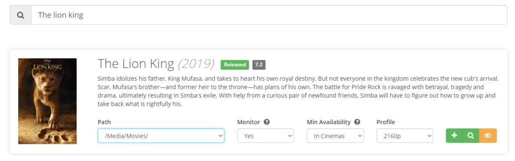 Radarr - установка плагина для фильмов и мультфильмов на unRAID 6.8.3 25