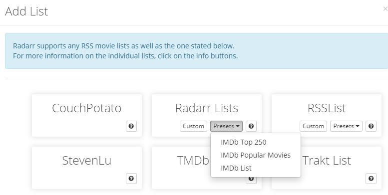 Radarr - установка плагина для фильмов и мультфильмов на unRAID 6.8.3 23