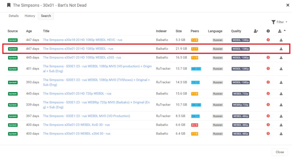 Sonarr – установка плагина для сериалов на unRAID 6.8.3 22