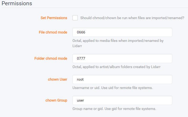 Lidarr – установка плагина для музыки на unRAID 6.8.3 13