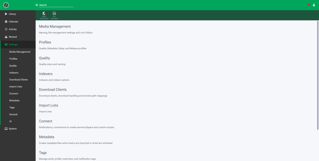 Lidarr – установка плагина для музыки на unRAID 6.8.3 8