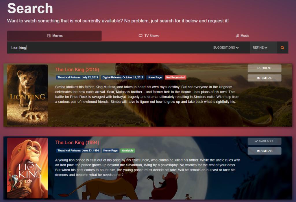 Ombi - личный стол заказов медиа-контента на Unraid 6.8.3 26