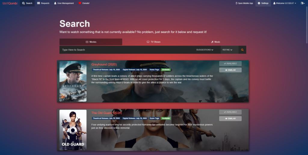 Ombi - личный стол заказов медиа-контента на Unraid 6.8.3 10
