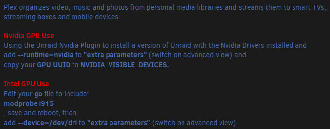Plex – установка домашнего медиа сервера на Unraid 6.8.3 6