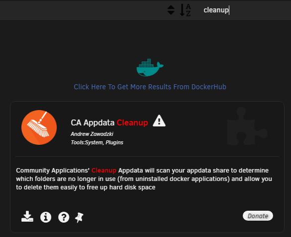 CA Cleanup Appdata - превращаем уборку в праздник на Unraid 6.8.3 2
