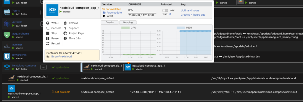 Docker Folder - организуем и раскладываем все по папкам на Unraid 6.8.3 10