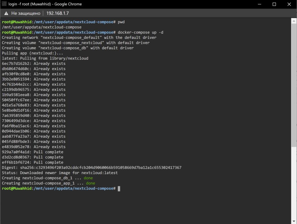 Docker Compose - упрощаем установку пакетов на Unraid 6.8.3 13