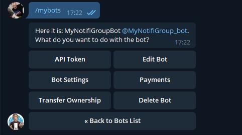 Telegram - настройка уведомлений на unRAID 6.8.3 10