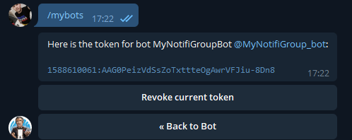 Telegram - настройка уведомлений на unRAID 6.8.3 11