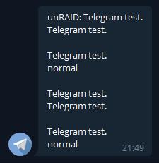 Telegram - настройка уведомлений на unRAID 6.8.3 31