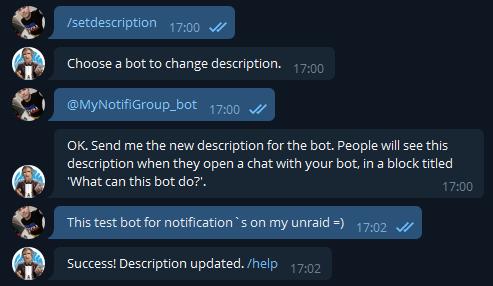 Telegram - настройка уведомлений на unRAID 6.8.3 7